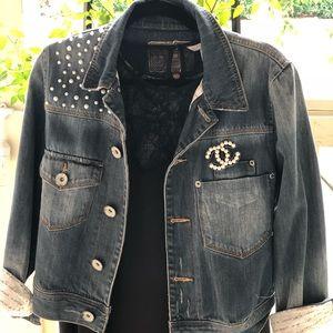 Arizona Embroidered denim jacket